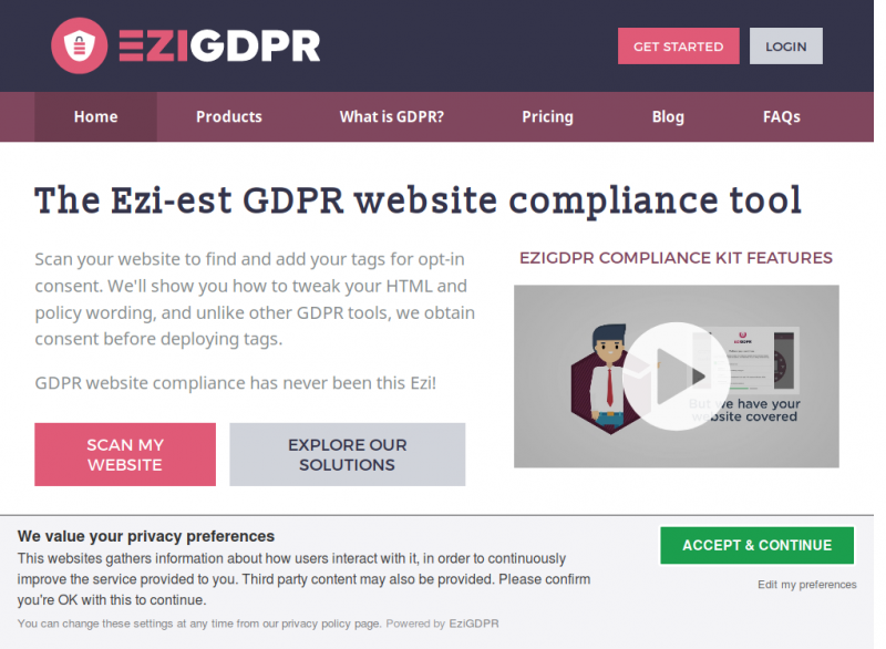 GDPR Consent Request Popup - Small Banner
