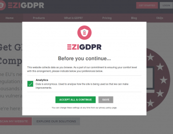 GDPR Consent Popup Single Category
