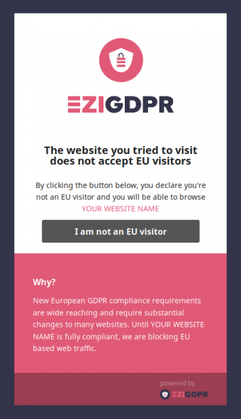 EU Blocked Visitor Screenshot