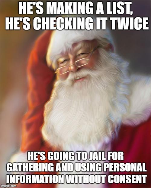 Santa GDPR Violation Meme